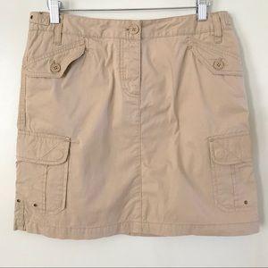 J. Crew Size 8 Khaki Cargo Skirt EUC